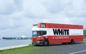 Vancouver removals whiteandcompany.co.uk international removals truck container ship image