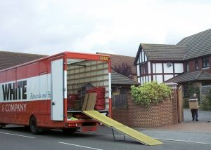 House Removal Companies Telford www.whiteandcompany.co.uk domestic loading removals truck image