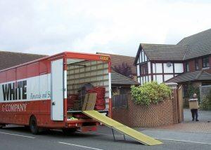 Evesham removals www.whiteandcompany.co.uk domestic loading removals truck image