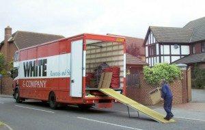 moving to bangor whiteandcompany.co.uk domestic removals loading truck image.jpg