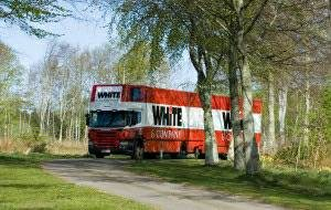 Shaftesbury removals whiteandcompany.co.uk bournemouth branch rural truck image