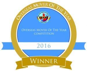 Removals Sevenoaks Winner 2016 Overseas Remover of The Year