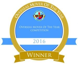 Removals Tonbridge Winner 2016 Overseas Remover of The Year