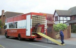 romsey removals whiteandcompany.co.uk domestic removals loading truck image