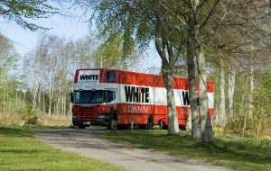 sutton on the forest removals whiteandcompany.co.uk truck in trees image