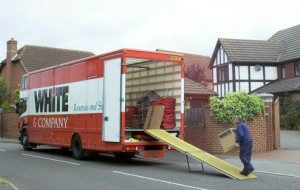 house removal Bournemouth over 200 trucks whiteandcompany.co.uk domestic removals loading truck image
