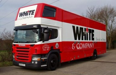 farnborough removalists Whiteandcompany.co.uk pantechnican truck picture