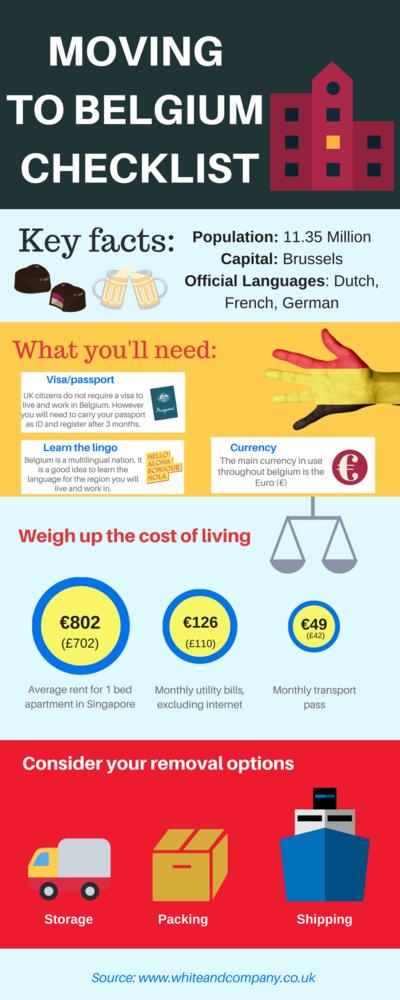 Removals to Belgium Checklist Infographic