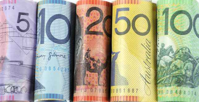 Rolls of Australian Dollars