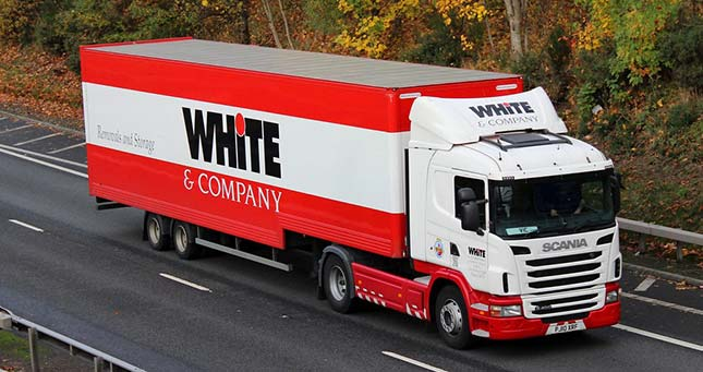 White & Company Truck in Transit