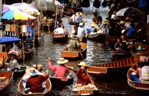 The floating markets of Damnoen Saduak, Thailand
