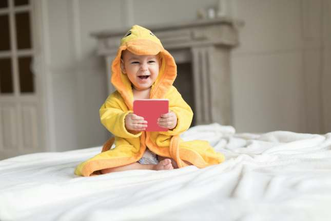 Baby in Yellow Robe