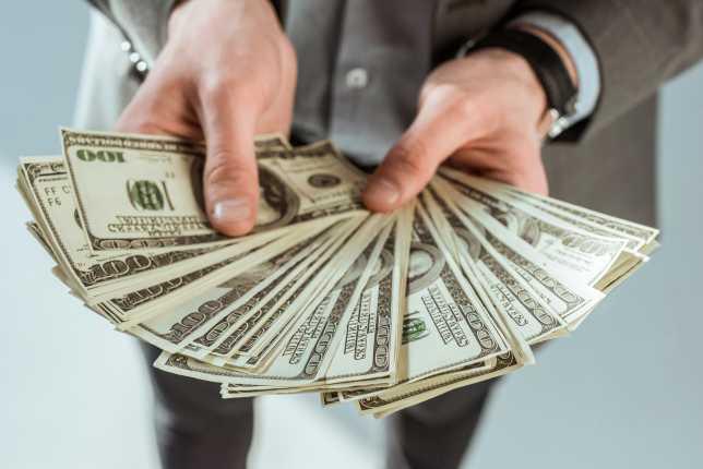 Dollar Bills Fanned Out