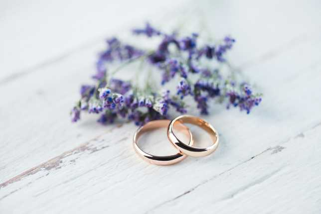Wedding Rings and Lavender