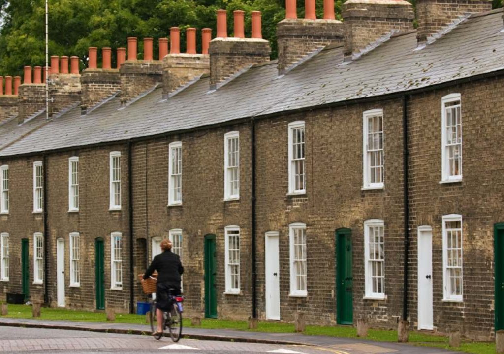 Removals Manchester, Row of typical houses in Manchester