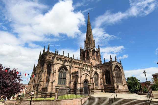 Rotherham, town in South Yorkshire, UK. Rotherham Minster (All Saints Church), Gothic architecture.