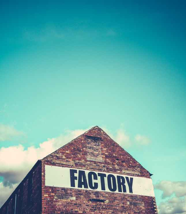 Red Brick Factory Building