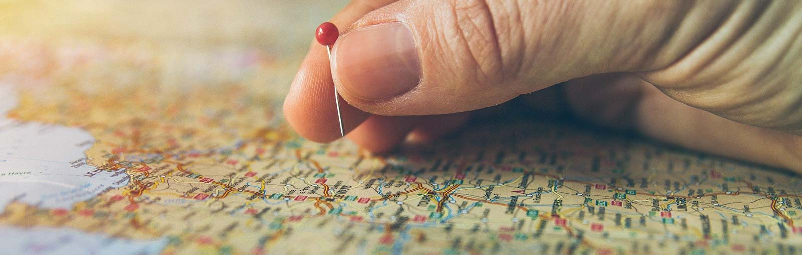 Holding Pin on Map