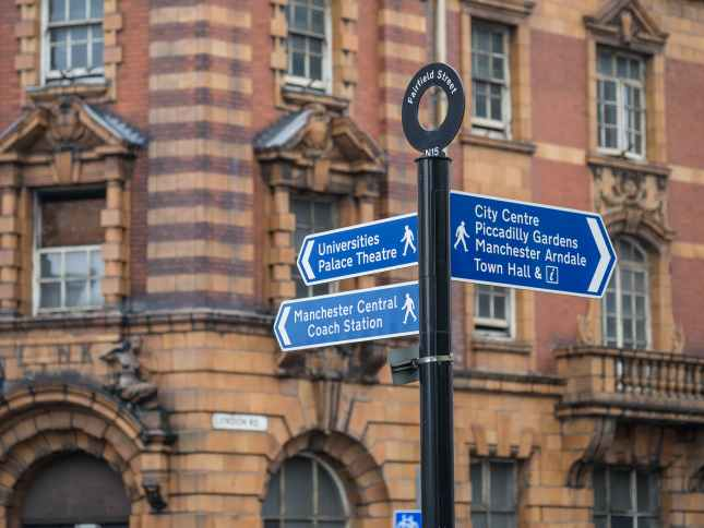 Manchester Street Sign
