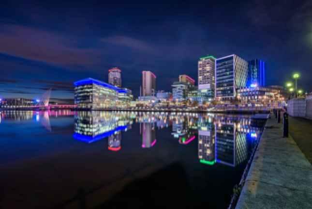 Media city Manchester England
