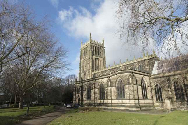 exterior of All Saints Parish Church, Loughborough,