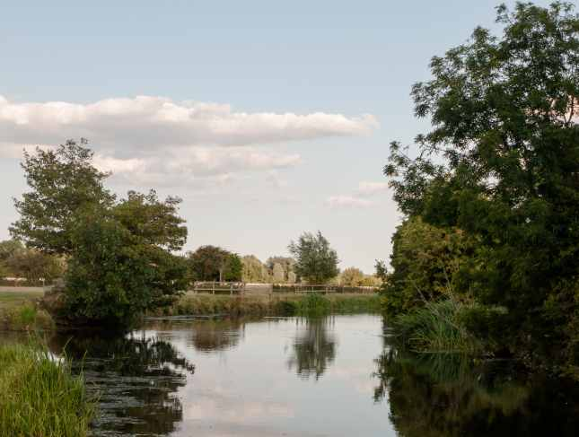 a beautiful country scene of the stour river in dedham
