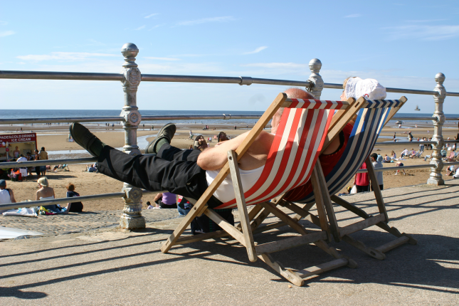 Beach chairs Blackpool Beach