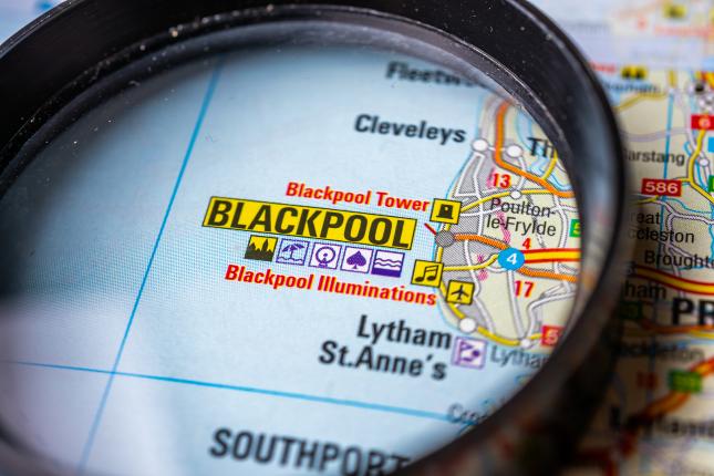 Blackpool on Map