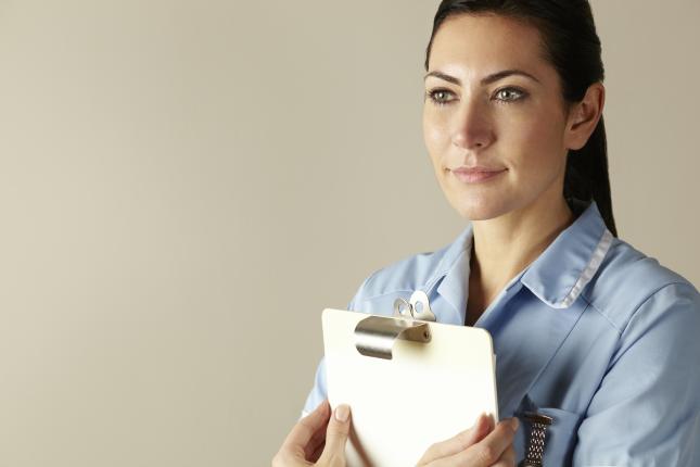 Nurse with clipboard