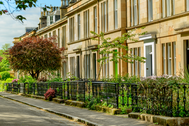 Houses in Hamilton Drive, Glasgow
