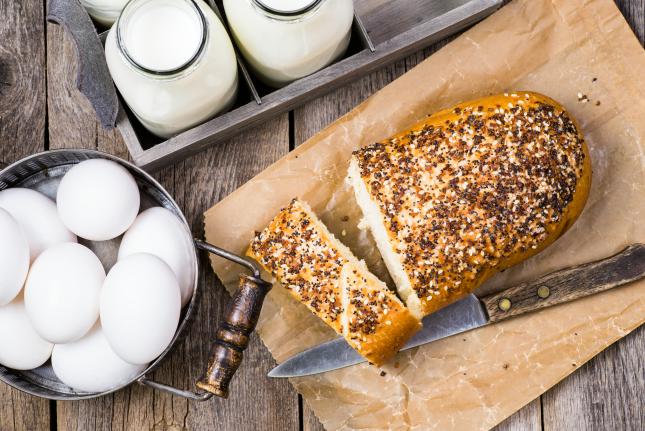 Milk Eggs Bread
