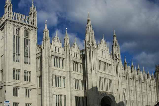 Marischal College on Broad Street, Aberdeen