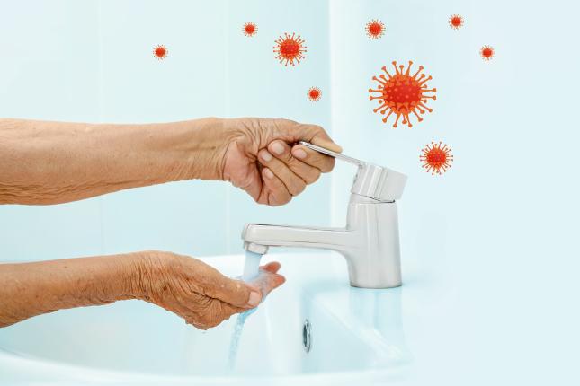 Washing hand coronavirus