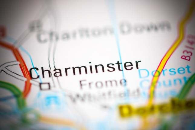 Charminster.on map of United Kingdom