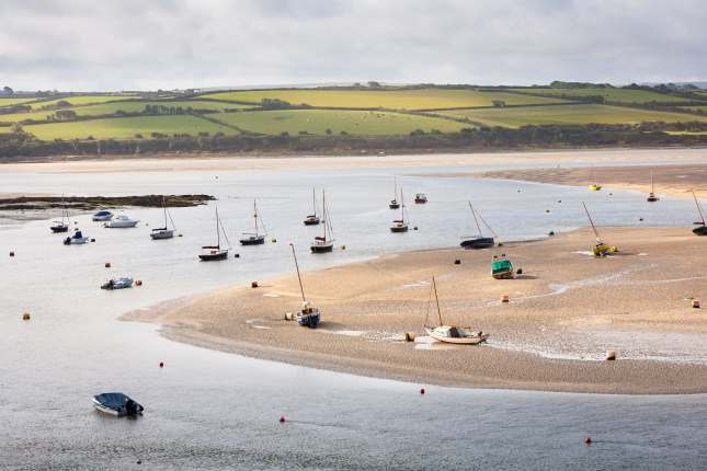 Boats on River Camel