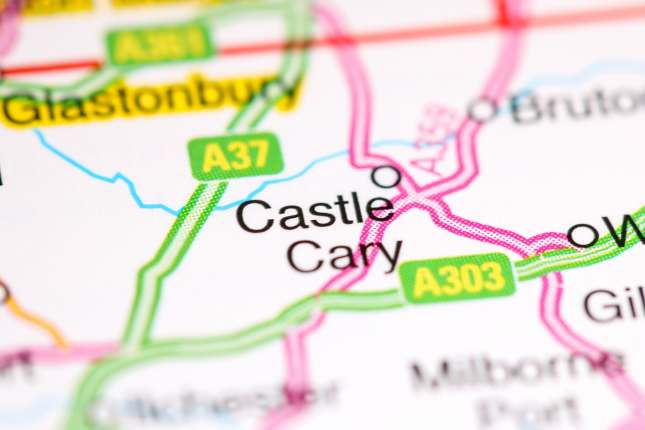 Castle Cary on map