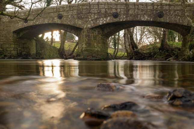 The River Teign, Chagford in Devon