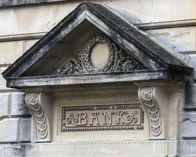 Bank Sign, Shepton Mallet, Somerset